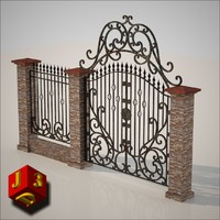 antique gate - 3ds