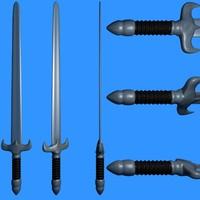 3d lwo sword