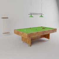 cues snooker table obj