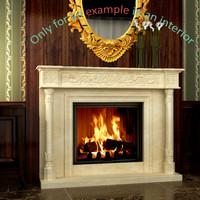 3d model fireplace 35