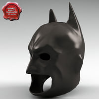 3d model of batman mask