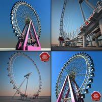 3ds max ferris wheels