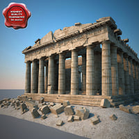parthenon modelled 3d max