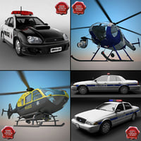 3d c4d police vehicles