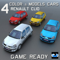 4 Color & Models Cars Clio