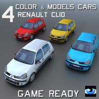 3ds car wheel 4 color