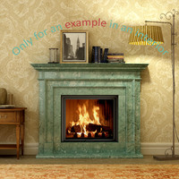 3d model of fireplace 41
