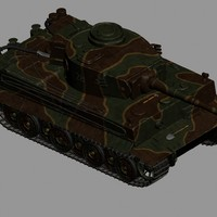 german wwii tank tracks 3d model