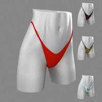 thong underwear 3d max