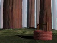 3d scene fairytale woods