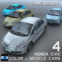 4 Color & Models Cars Honda Civic
