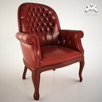 luxury armchair 3d 3ds