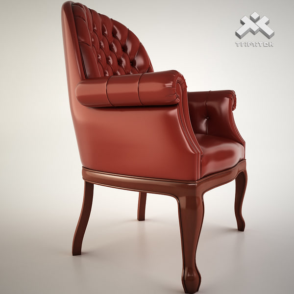 luxury armchair 3d 3ds - Classic Boss Armchair... by trimitek