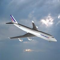 3d boeing 747-400 model