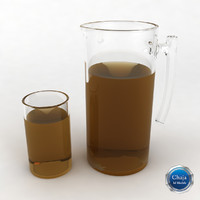 3d pitcher glass juice