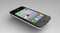 free iphone 4 3d model