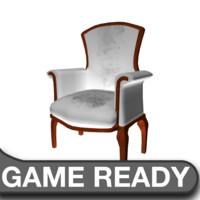 3d victorian chair white model