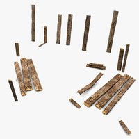 Broken Wooden Planks Collection 5