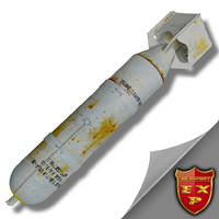 3d ww2 bomb photo flash model