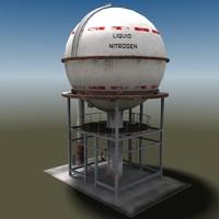liquid nitrogen tank 3d model
