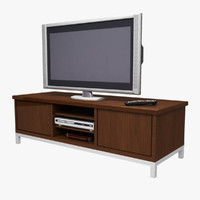 3d model television console