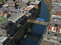 slum city 3d model