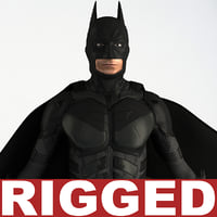 3d batman rigged