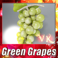Photorealistic Green Grapes + High Resolution Textures