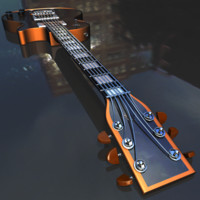 3d guitar materials qarluq model