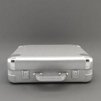 modern aluminium suitcase 3d model