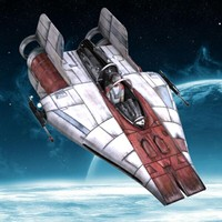 3ds max wing star fighter