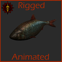 3d fish animation model