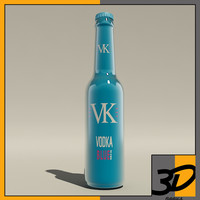 3d max bottle vk blue
