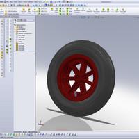 pneumatic wheel 3d model