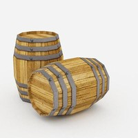 wine barrel 3d max