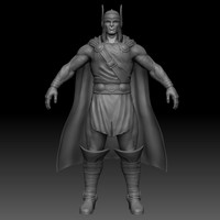 3d nordic warrior character model