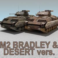 m2 bradley desert 3d max