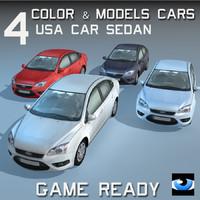 3d sedan car wheel 4