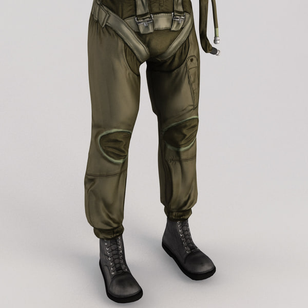 military pilot v4 static 3d 3ds - Military Pilot V4 Static... by 3d_molier