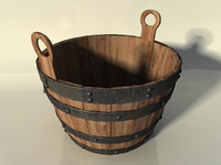 Wooden Bucket with Handles
