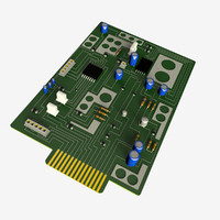 3d obj circuit board