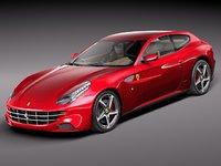 3d model ferrari ff sport 2012
