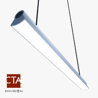 3d fluorescent ceiling light