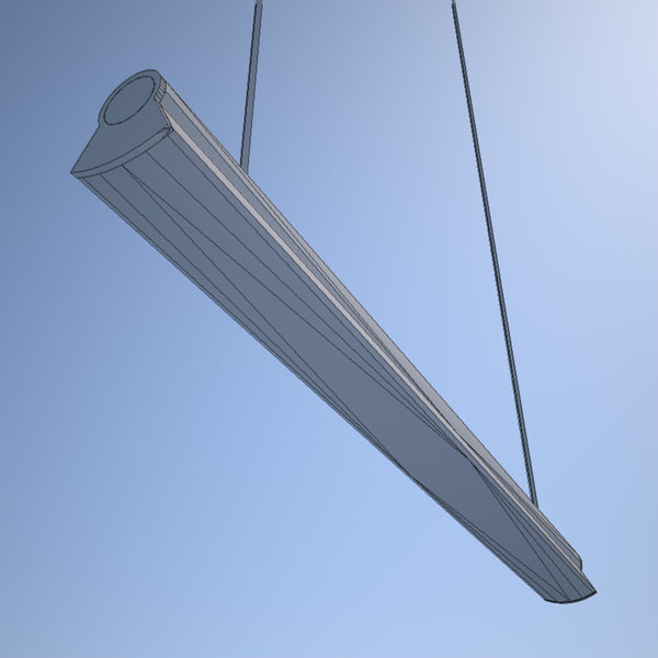 3d fluorescent ceiling light - Fluorescent Ceiling Light... by CTA AE