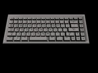3d model of keyboard