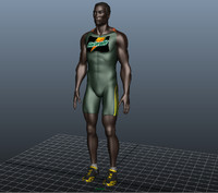 human athlete runner 3d obj
