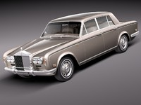3d rolls royce silver shadow