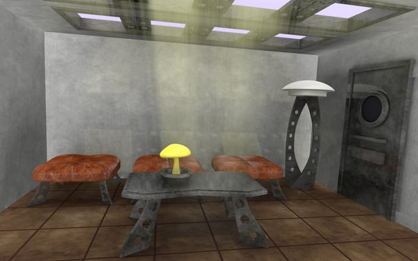 scifi interior 3d model - scifi interior... by bescec