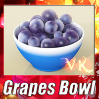 Black Grapes + Bowl