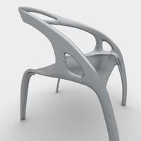 modern aluminum chair 3d max